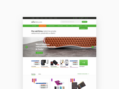 MPM-Reklama e-commerce process search webdesign ui table alert watches shopping cart checkout categories category slider banner above the fold homepage green shop eshop ecommerce