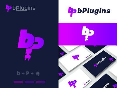 bPlugins Logo Design | b+P Latter Logo | Branding | Company 3d branding graphic design illustration design logodesign logo minimalist logo fiverr design branding design custom logo design brandidentity company logo