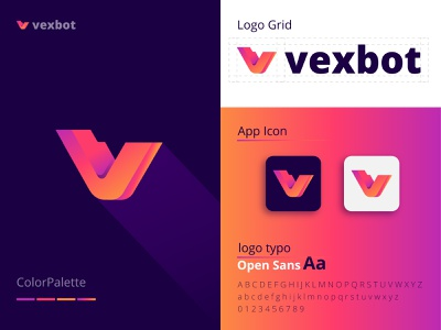 Vexbot | Latter | Modern | Branding | Company | logo | Design logo illustration design minimalist logo fiverr design branding design custom logo design brandidentity logodesign company logo