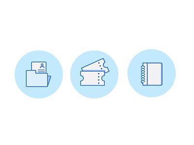 Icon set icon minimal illustration flat design
