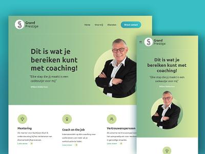 Personal website - Grand Prestige web ui illustration logo design