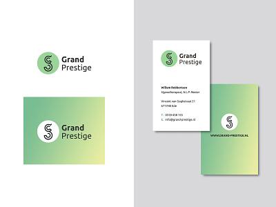 Grand Prestige Logo typography branding logo design