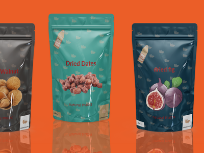dried food design dates walnut fig organic nature packaging product branding illustration graphic design healthy food