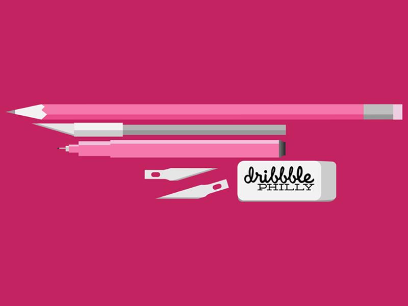 @Dribbble_Philly Twitter Header twitter dribbble philly simple clean artist tools design illustrator