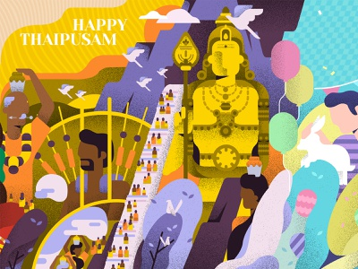 Happy Thaipusam malaysian festival batu caves batucaves statue buddha happythaipusam india malaysia indian thaipusam