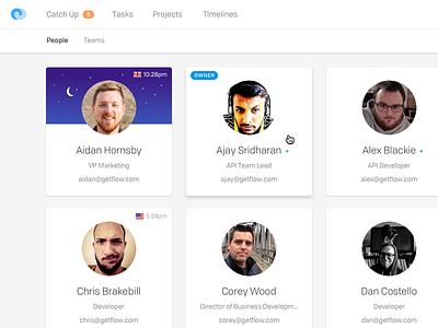 People Page — Flow Desktop App clean ui people directory white