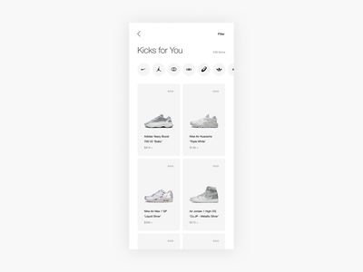 Shop Sneakers Exploration - E-commerce fashion ecom shop sneaker sneakers commerce minimal minimalism e-commerce ecommerce