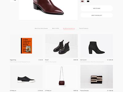 Un Cluttered Pdp clean pdp product detail page ui design minimalism minimal simple web shop webshop e-commerce ecommerce