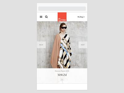 WIP iPhone 5s editorial fashion ecommerce e-commerce webshop phone simple minimal minimalism design ui