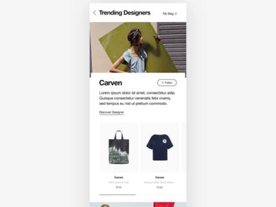 Trending Designers - Phones - WIP commerce shopping user interface fashion shop web shop clean simple minimal fashion minimalism e-commerce phones iphone responsive ux ui uiux design ecommerce shop