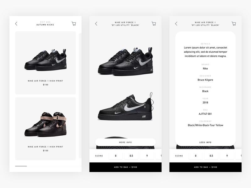 Sneakers - Exploration web shop clean fashion shop ux commerce shoes sneakers shopping mobile responsive simple webshop shop minimal fashion minimalism ui design e-commerce ecommerce
