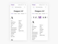 A-Z Designers Page