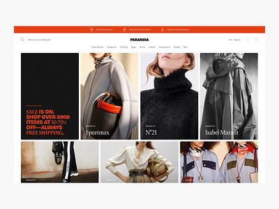 Home page exploration - ecommerce web luxury fashion luxury home page home ecom fashion shop ux shopping commerce web shop webshop shop fashion minimal minimalism design ui e-commerce ecommerce