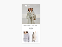 Designers Page + Collection Slide Up - E-commerce Exploration