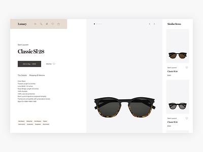 Lunacy Product Page Exploration - E-commerce product card product pdp product page ux commerce shopping web shop clean simple webshop shop fashion minimal minimalism design ui e-commerce ecommerce