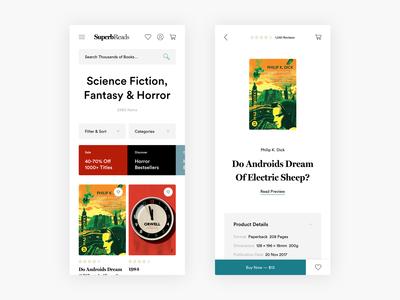 Buy Books Responsive Exploration - E-commerce