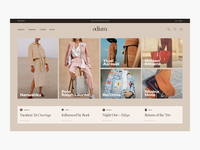 WIP - Odium Home Page Exploration - E-commerce
