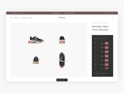 Schmancy Sneaker Product Page Exploration - E-commerce