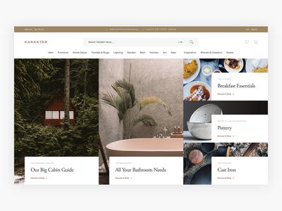 WIP - Karaktär Lifestyle Homepage Exploration