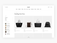 Languish - Minimal Designer/Category Page Exploration - E-com luxury fashion luxury commerce web shop clean webshop fashion shop minimal minimalism ui design e-commerce ecommerce