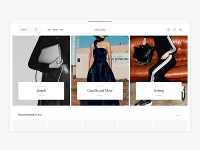 Search Exploration - E-commerce uidesign uxdesign uiux ux luxury fashion luxury shopping search bar search results search clean webshop fashion shop minimal minimalism ui design e-commerce ecommerce
