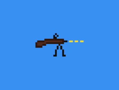 Gun (pixel art) bitmap art bitmap pixel rifle pixel rifle art pixel art rifle rifle pixel gun art pixel gun pixel art gun cool pixel art art pixel pixel design pixel art design pixel art gun illustration flat simple and clean design