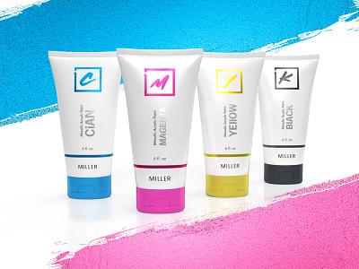 CMYK bottle design logo design packaging product visualization package design branding
