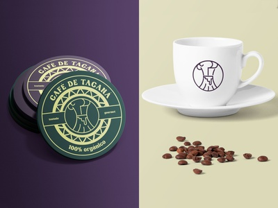 Tacaná Coffee brand identity graphic design logo design design branding