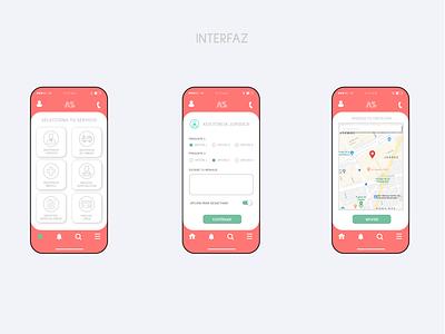 ASS APP INTERFACE ux design app design vector ui app development interactive interface