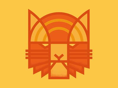 Lineart Tiger - KC 07 pattern colour minimal tiger lineart illustration design graphic poster
