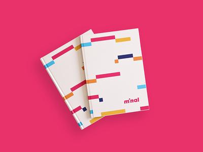 Minal Portfolio Book typography coffee mockup design graphic print animation identity book editorial branding