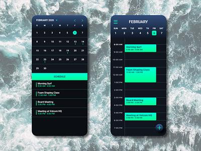 Calendar app for surfers surfapp surf uxdesigner uxdaily uidesigner uidesign uidaily ui design app