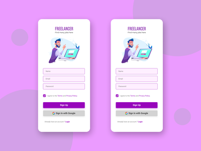 Sign Page dailyui