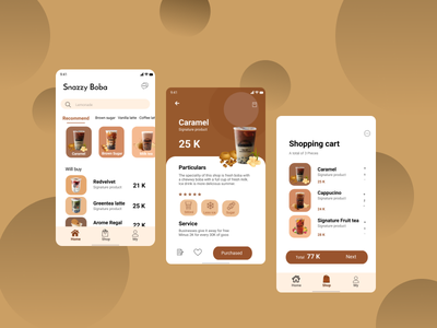 Snazzy Boba uidesign order drink delivery drink design art simple design snazzy boba user experience userinterface drink app boba uiux ui ui design figmadesign figma design app design branding app design android app