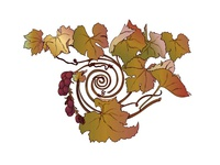 Autumn Grape Illustration
