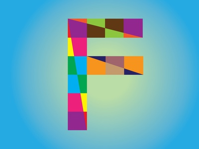 Letter logo F Colorfull