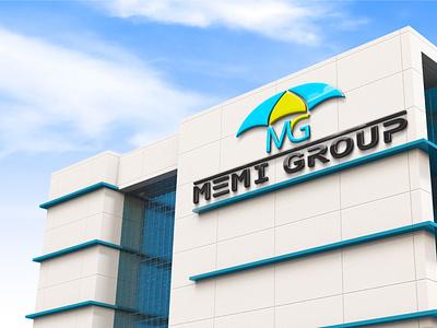 Memi Group Logo with mockup