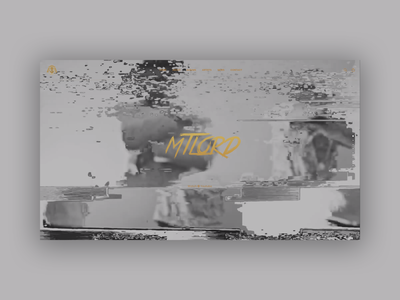 MTLord Concept Website graphic design branding minimal ux ui html3 gray glitch css concept artist website web illustration design