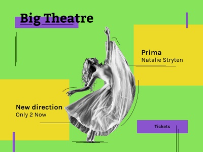 Big Theatre typography minimal art web website web design design ui