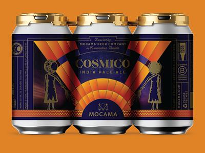 MOCAMA COSMICO beer branding beer label beer beer can design