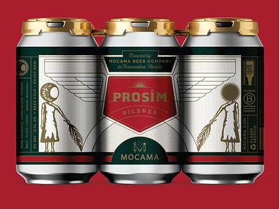 MOCAMA PROSIM beer branding beer label beer beer can