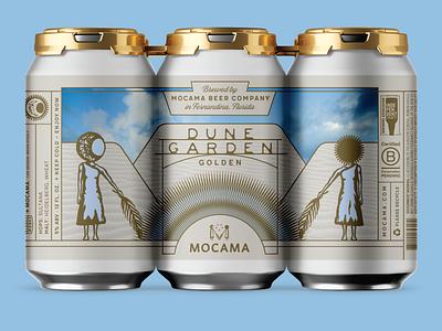 MOCAMA DUNE GARDEN beer branding beer label beer can beer