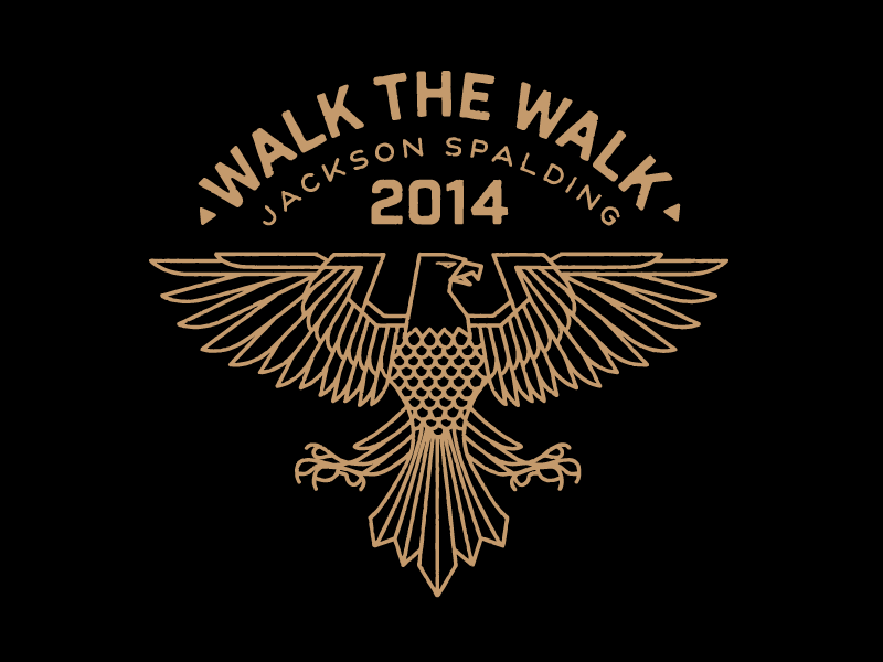 Walk The Walk eagle bird illustration