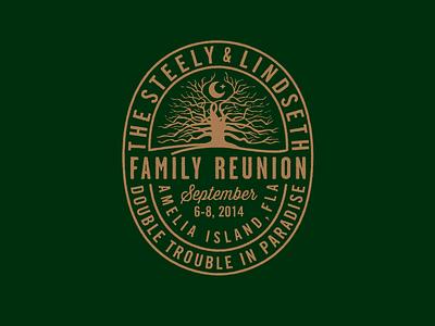 Family Reunion Badge tree illustration family reunion live oak