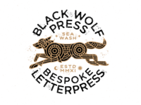 Black Wolf Press Lockup