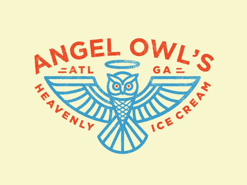 Ice Cream Cone Owl owl angel illustration ice cream