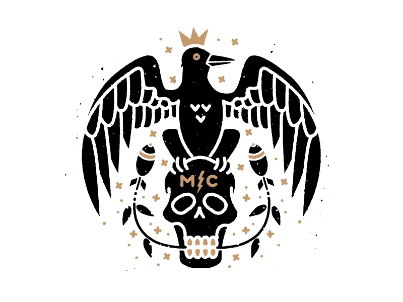 Monster Children - King Crow king crow skull bomb illustration gold teeth