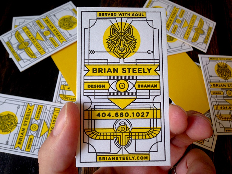 new cardz illustration letterpress business cards wolf scarab duplex served with soul cards card