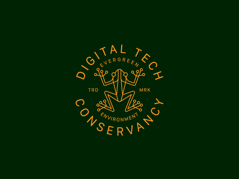 Digital Conservancy frog logo illustration mark digital conservancy