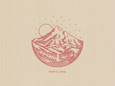 Portland  portland illustration landscape